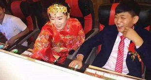 Cô dâu chú rể ham chơi game quên luôn giờ tổ chức đám cưới