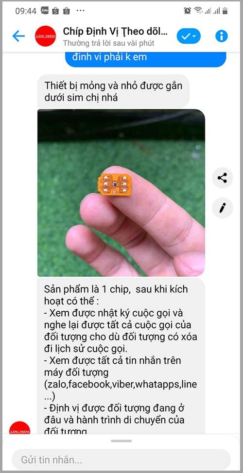 Con chip định vị điện thoại, đọc trộm tin nhắn lừa đảo