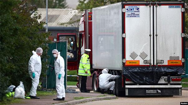39 người chết trong container tất cả đều là người Việt Nam?