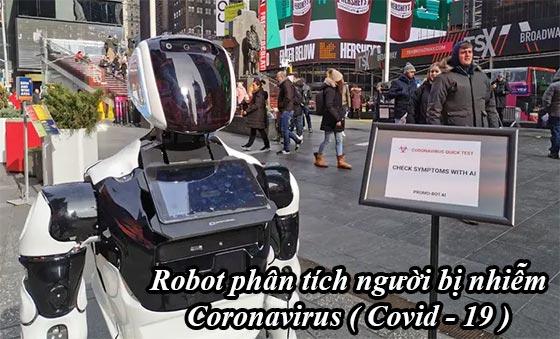 Robot kiểm tra phân tích người bị nhiễm Virus Corona ( Covid - 19 )
