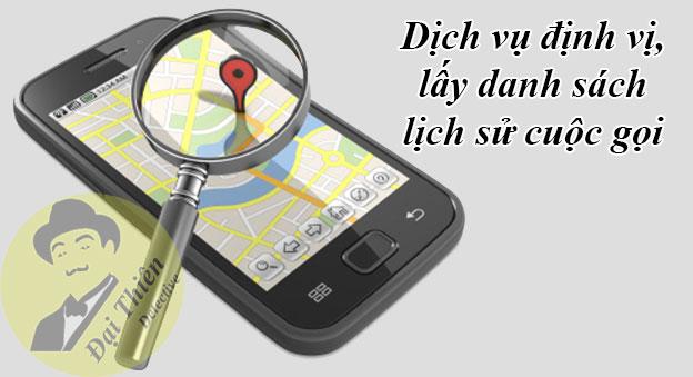 Dịch vụ định vị vị trí hiện tại, lấy danh sách lịch sử cuộc gọi