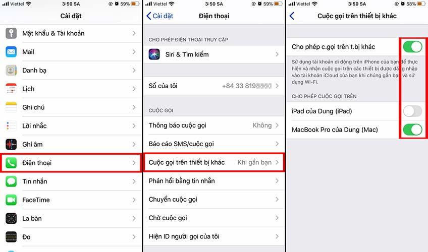 2 điện thoại iPhone dùng chung iCloud có nghe được cuộc gọi không?