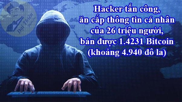 Hacker ăn cắp thông tin cá nhân của 26 triệu người dùng