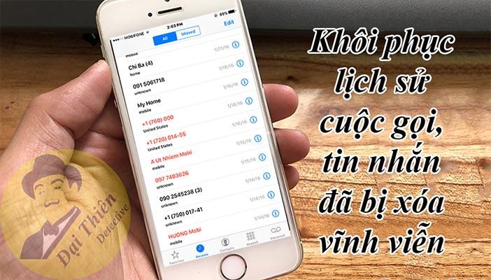 Cách khôi phục lịch sử cuộc gọi đã bị xóa trên iPhone, Samsung, Oppo